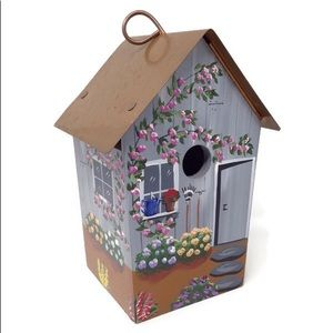 Vintage | 90s Polly Perch Hand Painted Bird House